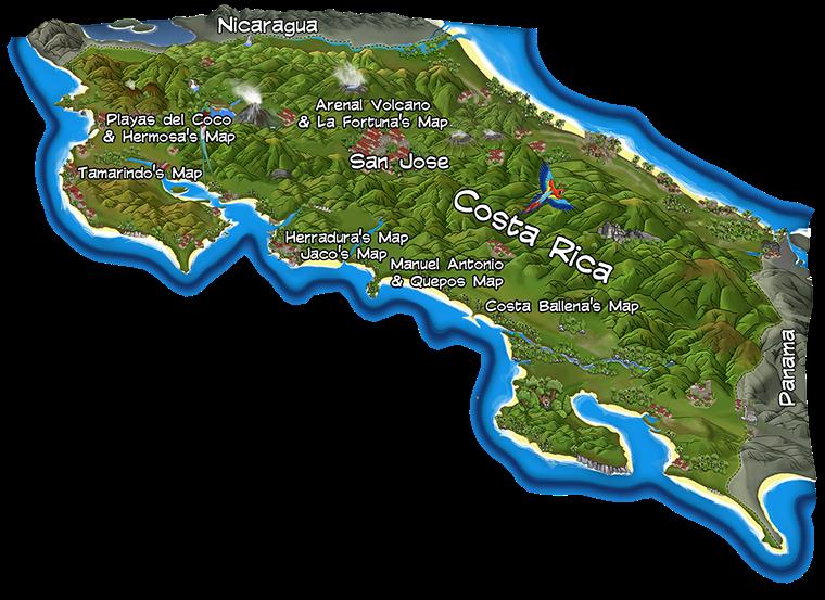 Hand Drawing Map Of Costa Rica Mapa De